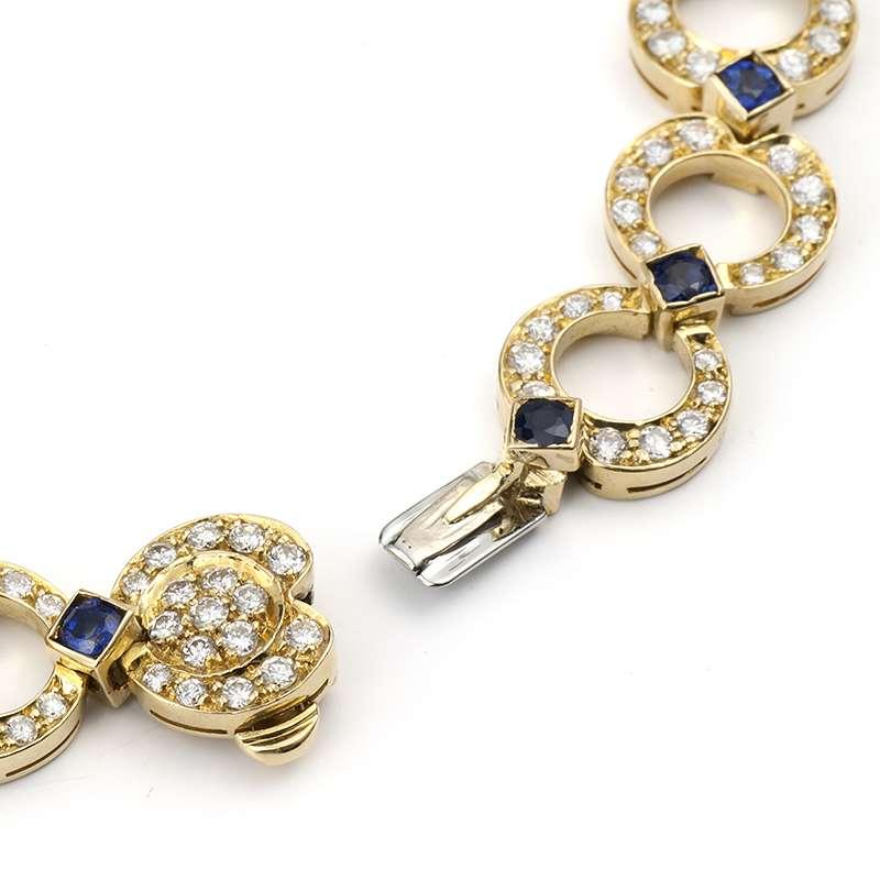 Diamond Amp Sapphire Bracelet